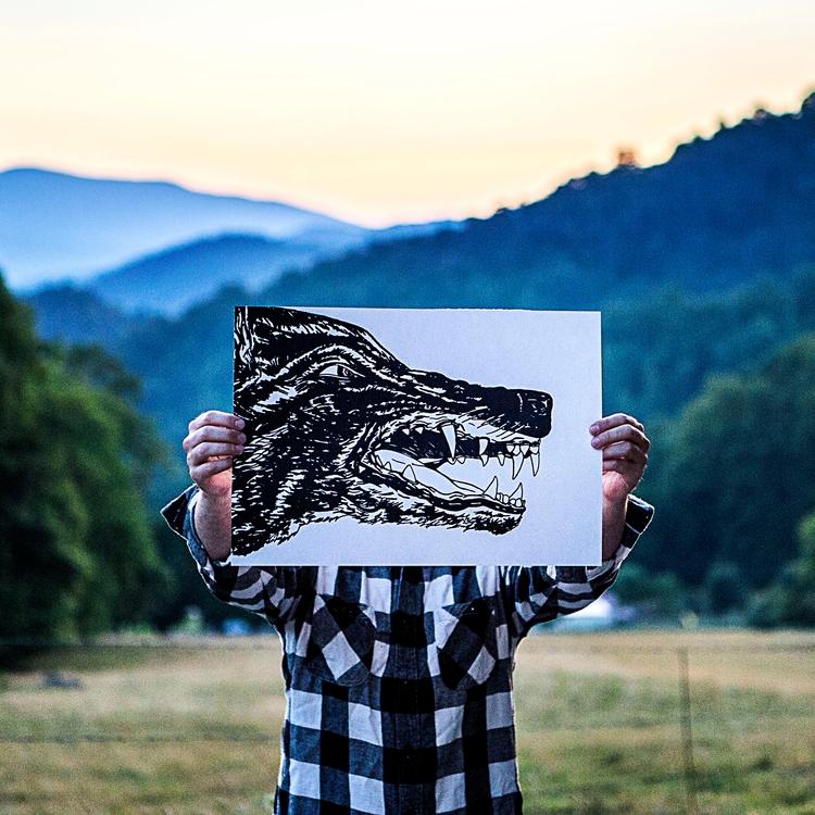 Wolf Print: work explores feroc - mysticbooze | ello