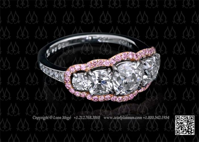 stone diamond engagement ring - unique - leonemege | ello