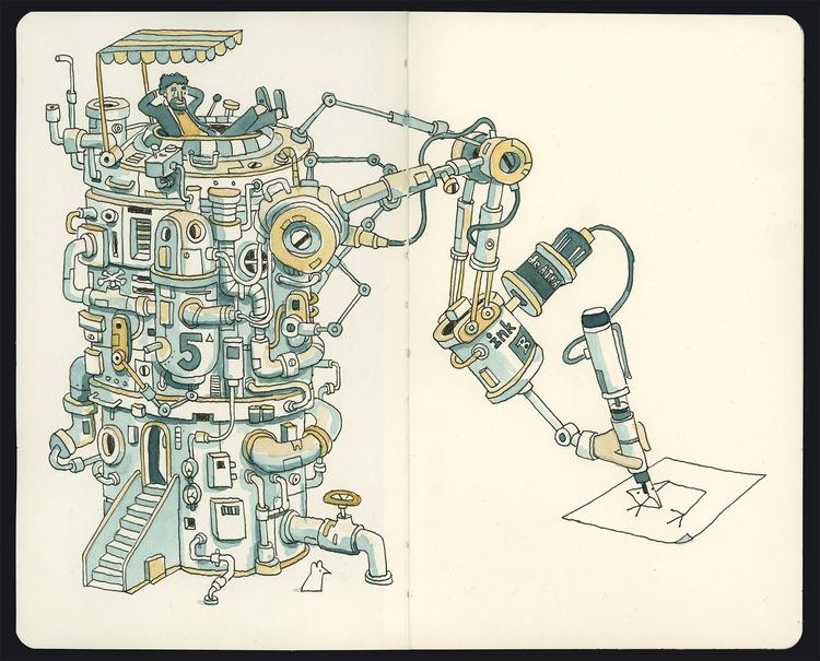 Illustrating easy - sketchbook, moleskine - danielspacek | ello
