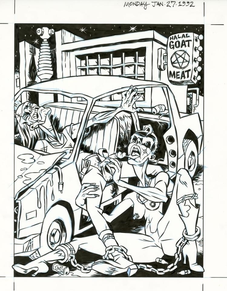"""Car,"" illo fiction Carl Watson - dannyhellman | ello"