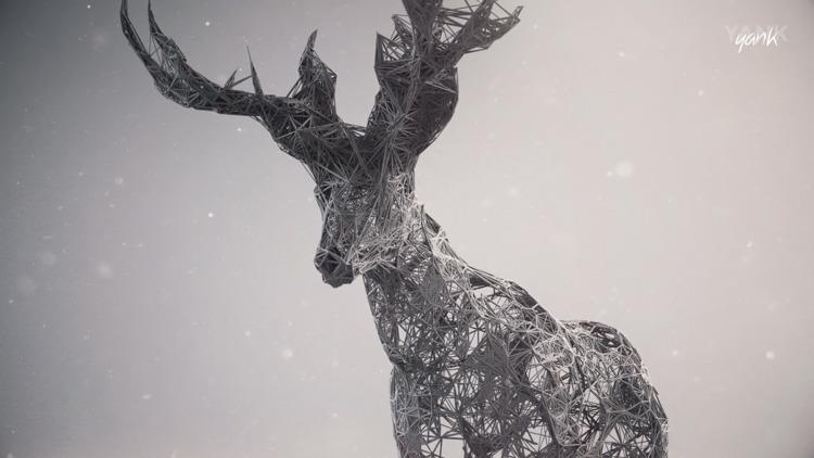work, deer, c4d, maxon, cgi, 3d - yank- | ello