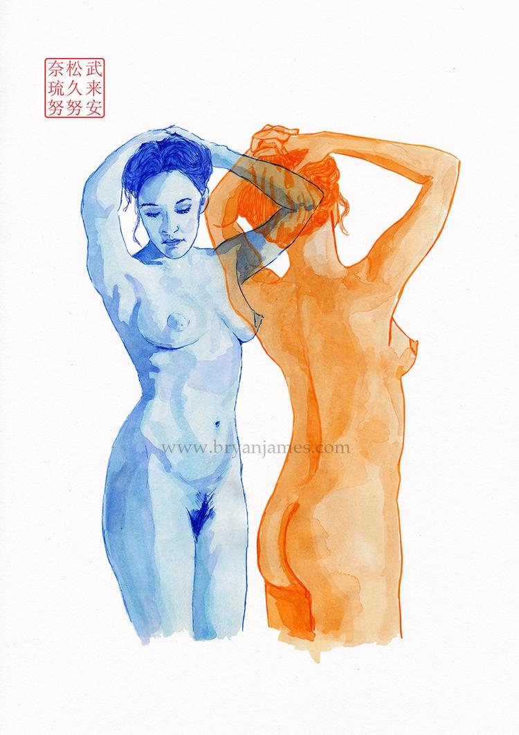 Dancers - ink paper - bryanjamesart | ello