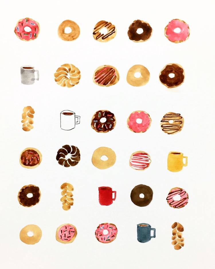 Endless coffee donuts ーーーーーーーーー - igimidraws | ello