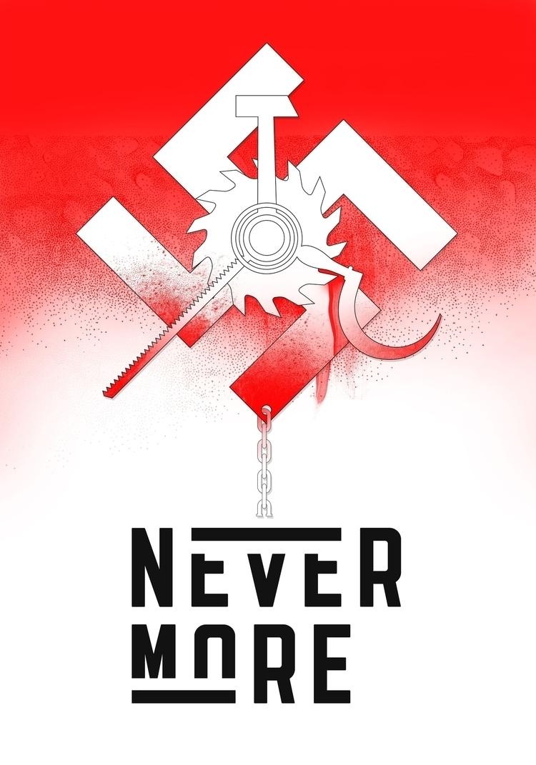 poster, 2017 - totalitarianism, design - victorsoma | ello