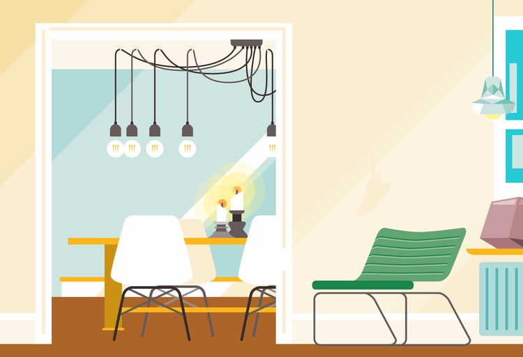 vector, illustration, airbnb - bentheillustrator | ello