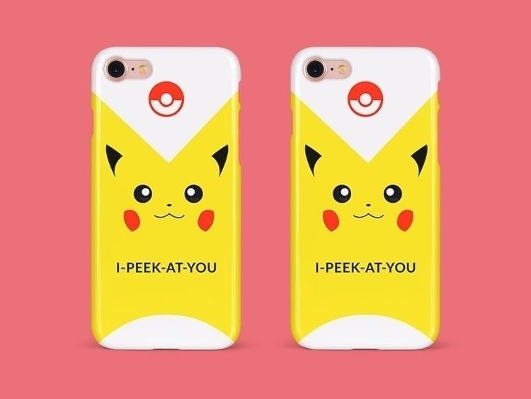 Pikachu Phone Cover - Illustration - anneliene_jonck   ello