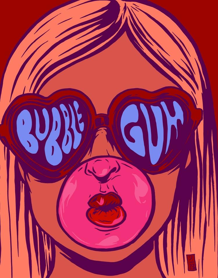Bubble Gum - illustration - thomcat23 | ello