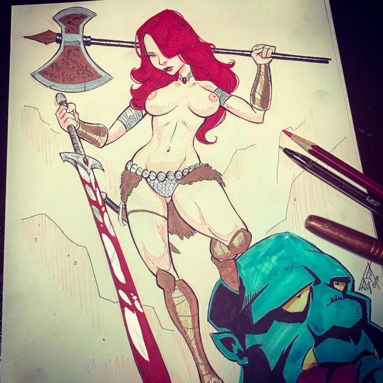 boobs, tits, warrior, axe, sword - ukimalefu | ello