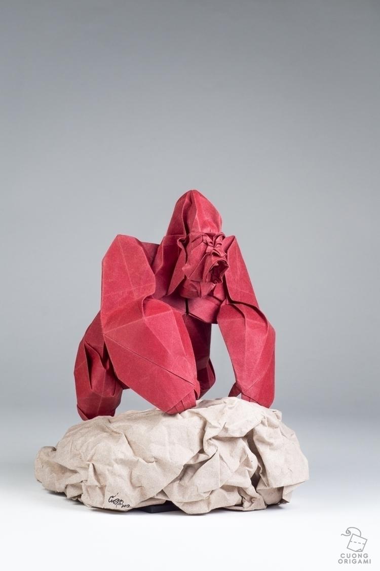 Origami Angry Gorilla Folded un - cuongorigami | ello