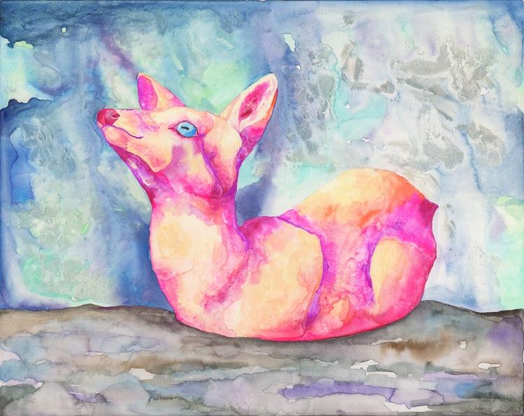 Jewel Imp watercolor, gouache,  - hannahward | ello