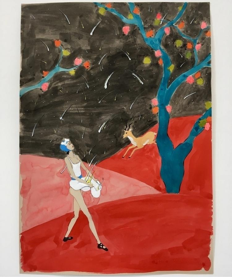 catching falling stars - kunst, inkonpaper - lorettamae | ello