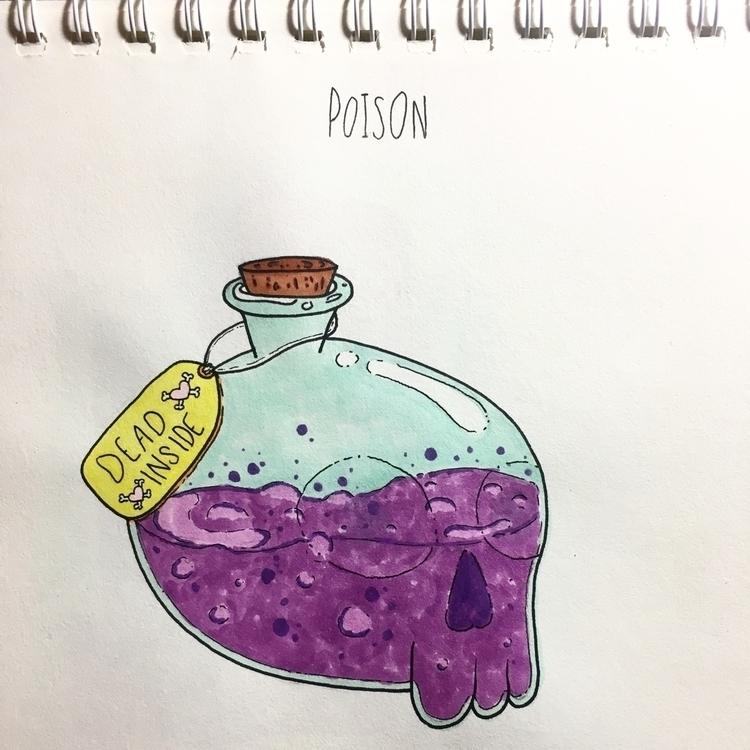 Day 3: Poison - inktober, cute, pink - sadsadgirl | ello
