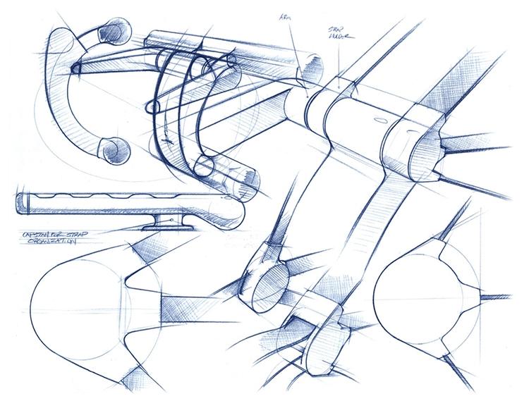 Blue pencil sketch exploration  - jamesowendesign | ello