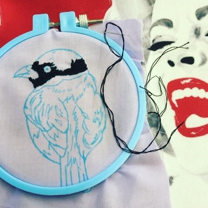 Progress - Commute - embroidery - snockardchanning | ello