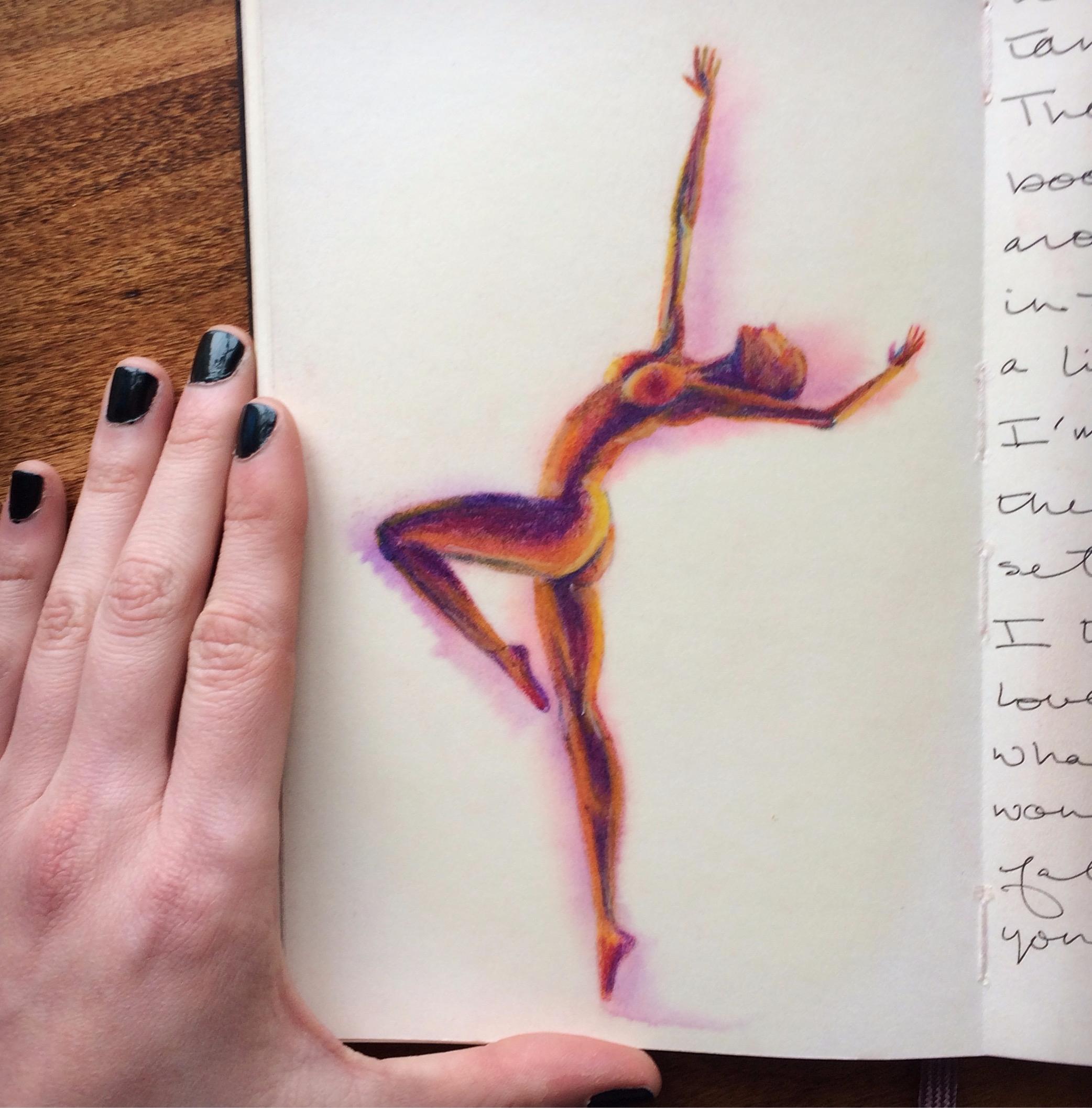 softpastel, pastel, figure, dance - betsykevans   ello