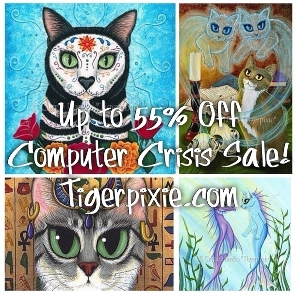 Computer Crisis Studio Sale! Or - tigerpixie | ello