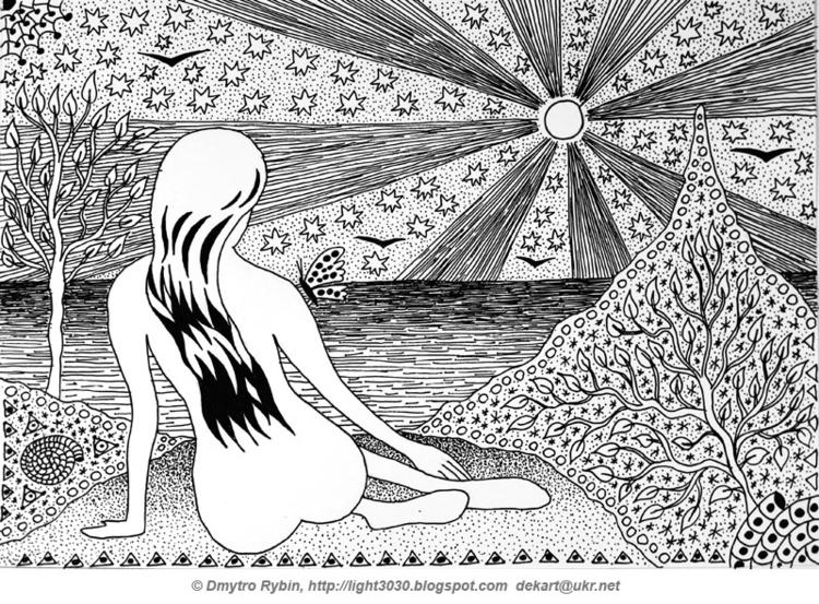 woman sea - Graphics, blackandwhite - dmytroua | ello