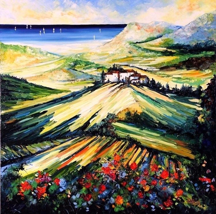 La Mia Toscana Bruno Oil Canvas - bitfactory | ello