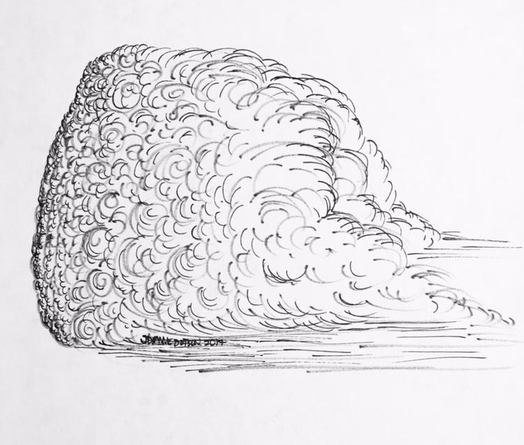 October 7, Clouds - Inktober, Inktober2017 - jdiannedotson | ello