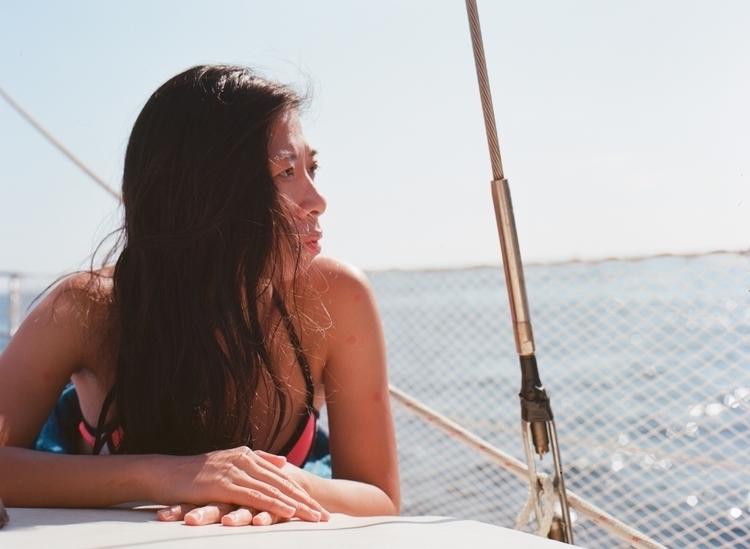 playing boat floating coast - ektar100 - riceballthief | ello