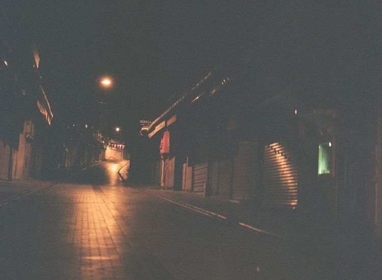 streets misty night - istanbul, film - riceballthief | ello