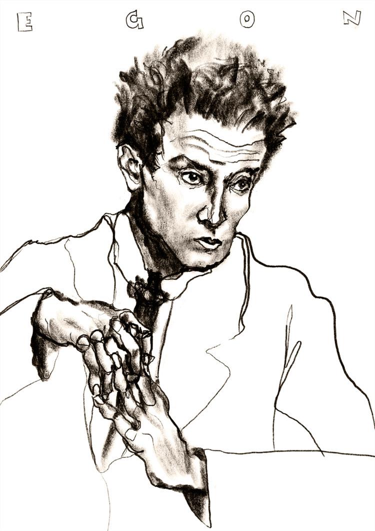 Egon Schiele - draw, ipadpro - imilman | ello