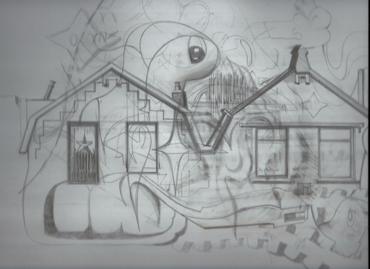 Drawing, Transvaalstreet Houses - albertzwaan | ello