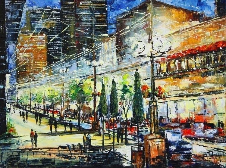 Larimer II Bruno Oil Canvas 18X - bitfactory | ello