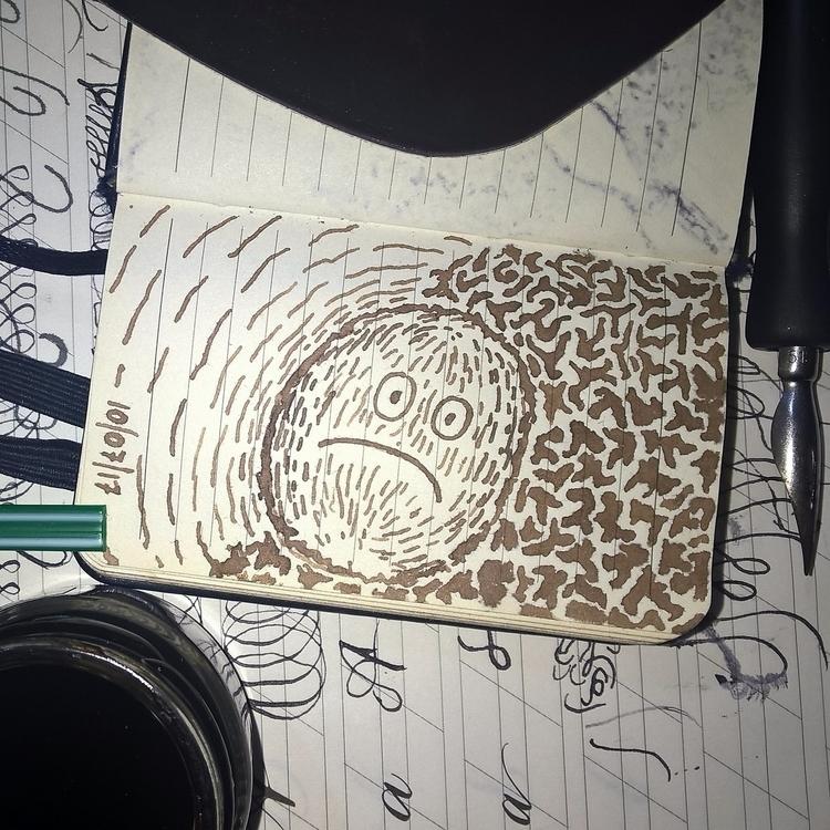 Walnut ink huh - random, doodle - rayanuki | ello