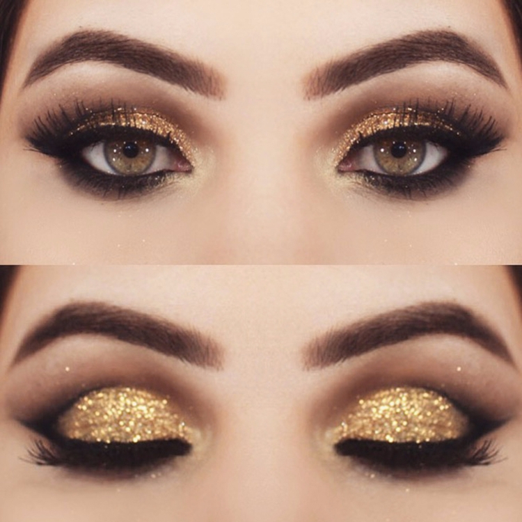 Olhos dourados, lindos para noi - maquiagem_para_festa | ello