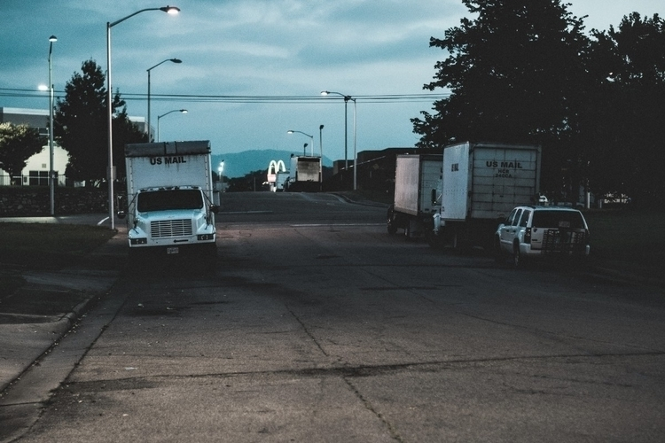 Ready roll: Mail trucks wait si - iangarrickmason | ello