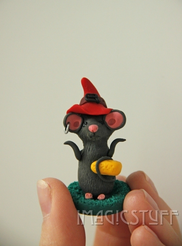 Lucky Mouse - mouse, animal, polymerclay - i_magicstuff | ello