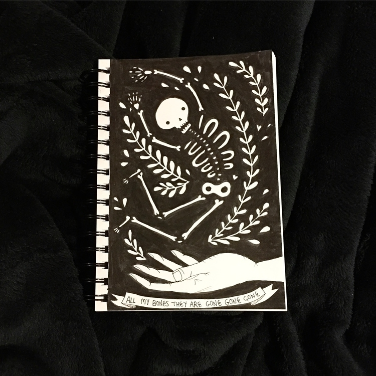 Inktober spooky sketch - inktober - becski | ello