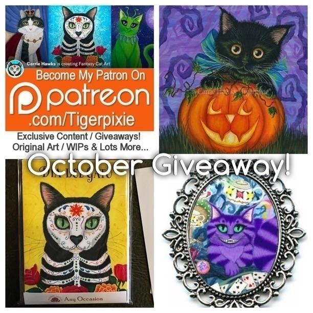 October Patreon Giveaway 1 priz - tigerpixie | ello