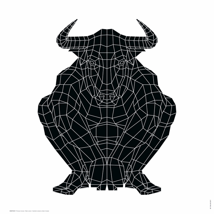 MINOTAUR / Black White version  - itemlab_designstudio | ello