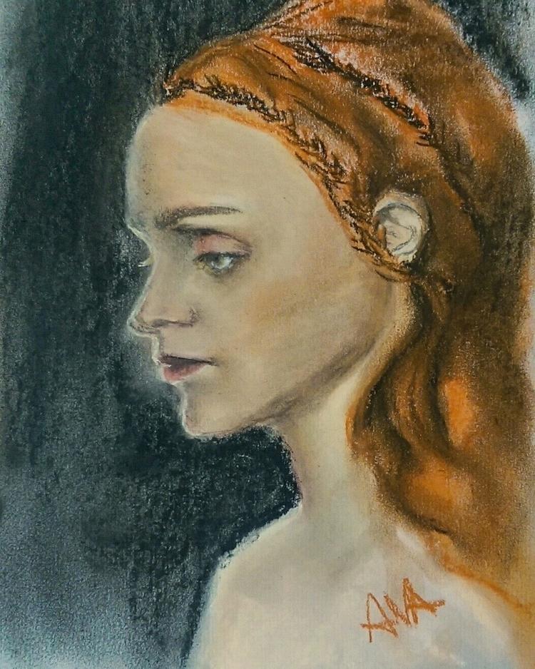 Portrait soft pastel roki paper - bnapi | ello