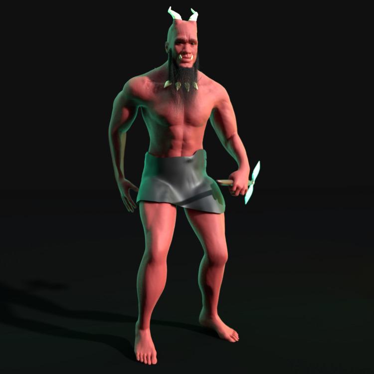 Demon#demon - 3d, 3dmodel, model - solutuminvictus | ello
