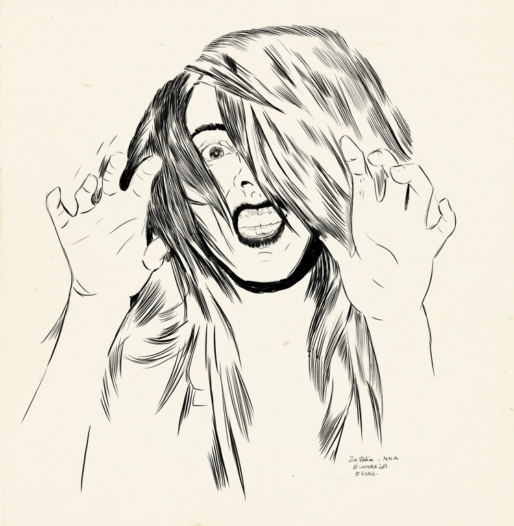 fierce, illustration, ink, inkwork - zoe_vadim | ello
