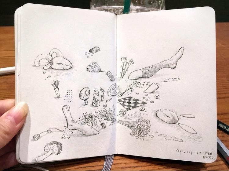 sketchaday, sketchbook, moleskine - alice_lin   ello