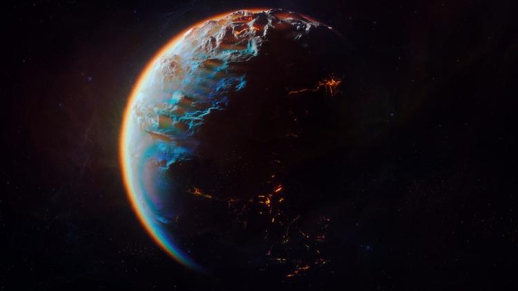 EXO  - c4d, space, planet, PS, cracked - subnomadix | ello