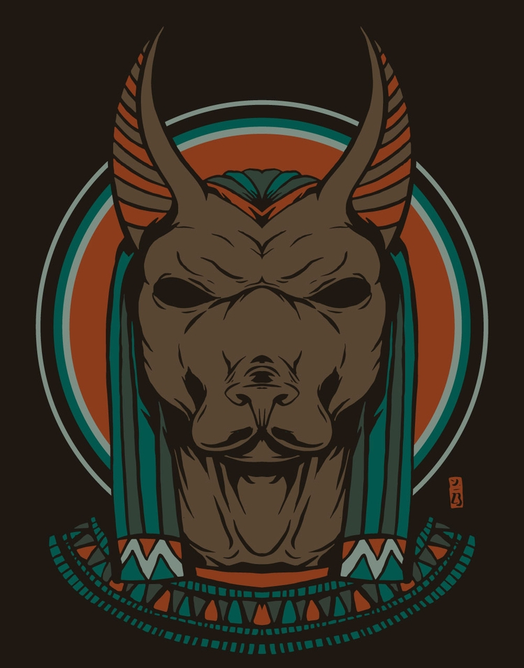 Anubis - illustration - thomcat23 | ello
