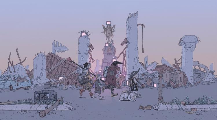 Wanderers - illustration, drawing - maxprentis | ello