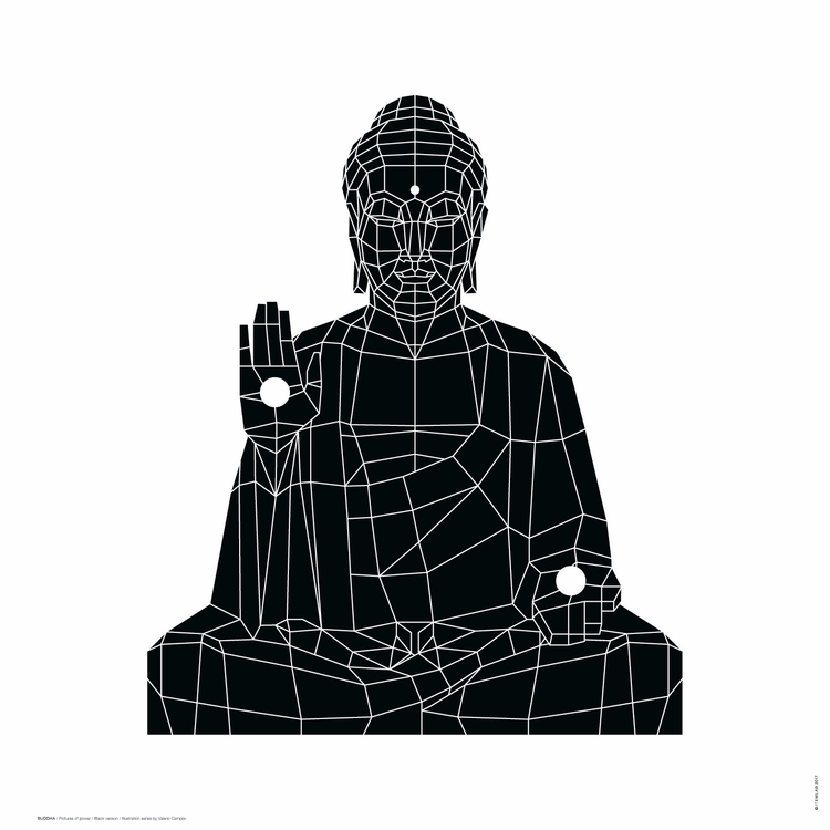 BUDDHA / Black White version Il - itemlab_designstudio | ello