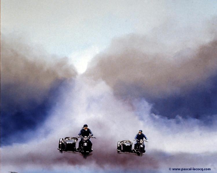 DE CHARS - Wagon race -oil can - bluepainter   ello