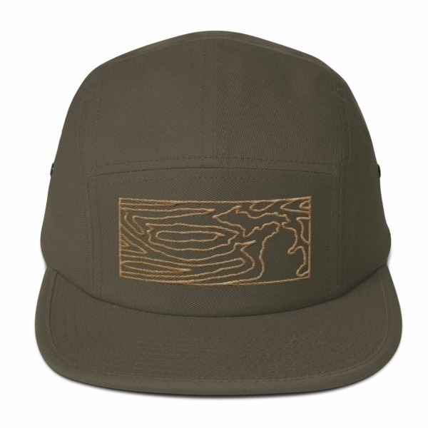 wood grain panel Michigan hat 3 - mel_blohm_studios | ello