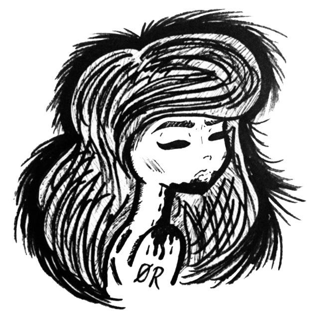 Feral - illustration, InkIllustration - oddrabbit | ello