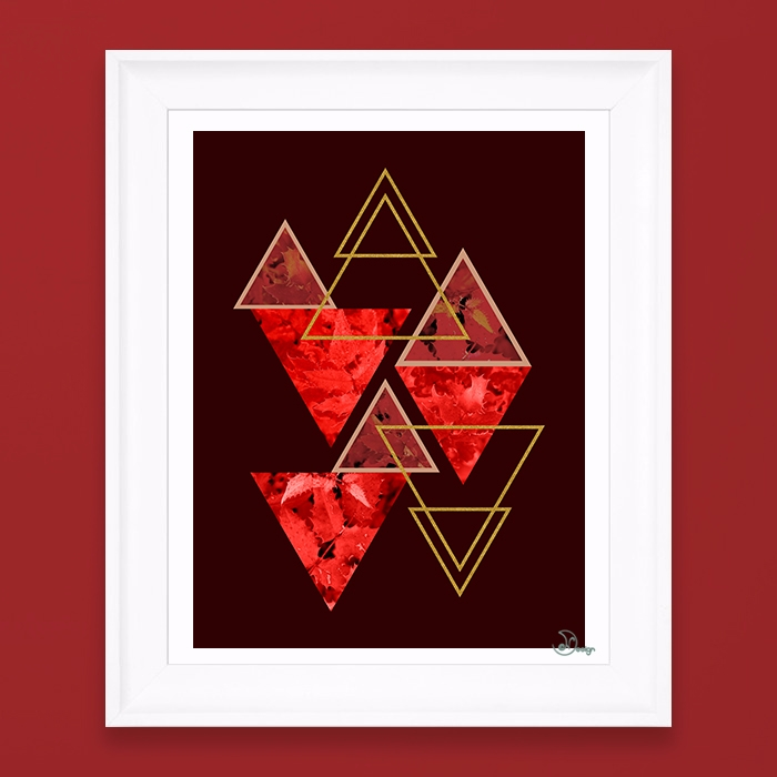 Red Fall Elegant abstract compo - designdn | ello