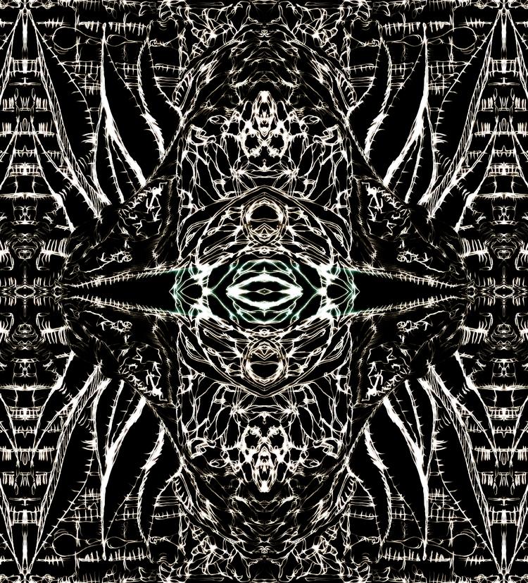 cthulhu - ver. kuro - drawing, Collage - tsun-zaku | ello