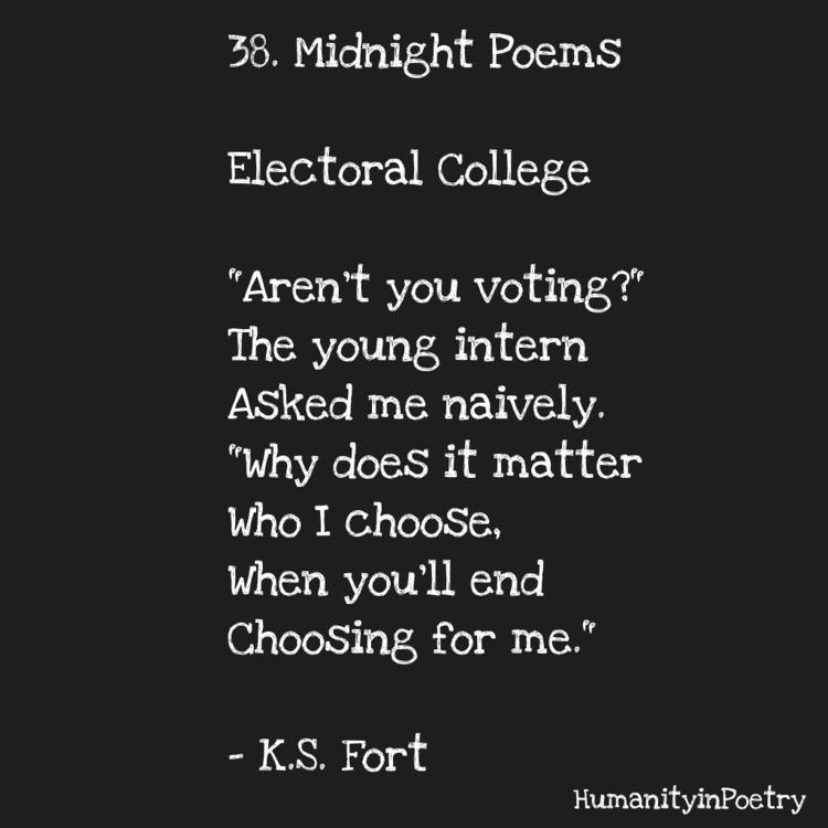 Link Poem, Electoral College - poetry - humanityinpoetry | ello