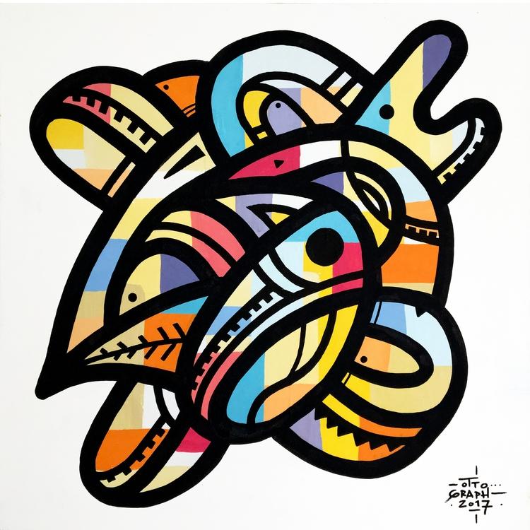 ottograph - acrylic canvas 100x - ottograph | ello
